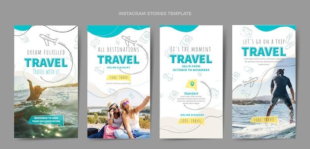 Modèle de conception d'histoires instagram de voyage