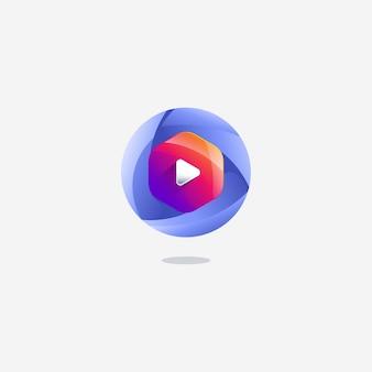 Modèle de conception icône bouton dégradé couleur dégradé