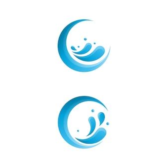 Modèle de conception d'icône d'éclaboussure d'eau vector illustration