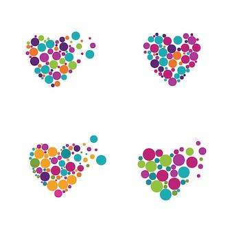 Modèle de conception d'icône d'icône de vecteur d'amour de beauté