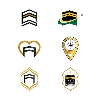 Modèle de conception d'icône d'illustration vectorielle kaaba