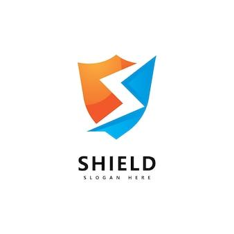 Modèle de conception d'icône de logo de bouclier