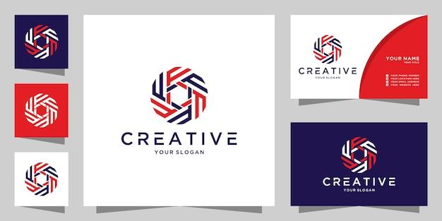 Modèle de conception d'icône de logo créatif lettre f