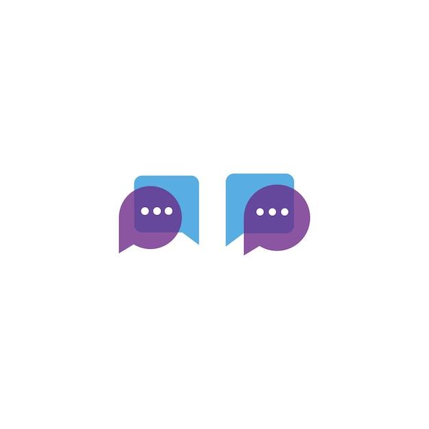 Modèle de conception d'icône de logo de discussion