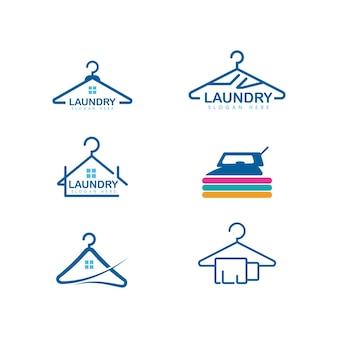 Modèle de conception d'icône de vecteur de blanchisserie