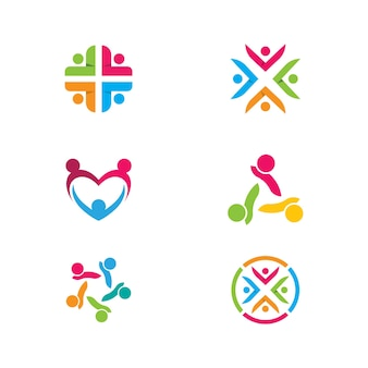 Modèle de conception d'icônes de communauté, de réseau et de réseau social