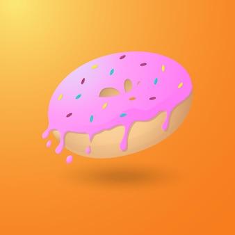 Modèle de conception d'illustration de dessin animé de beignets