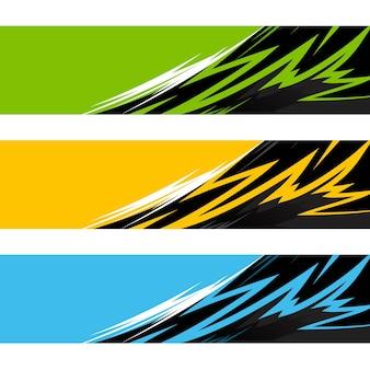 Modèle de conception d'illustration de fond de vecteur d'enveloppe de voiture
