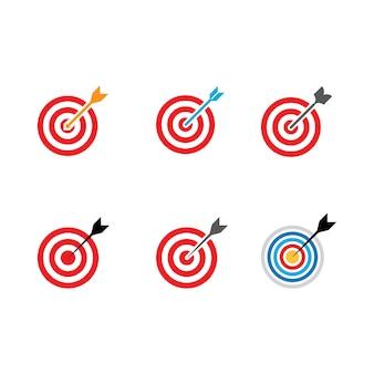 Modèle de conception d'illustration d'icône de vecteur de cible