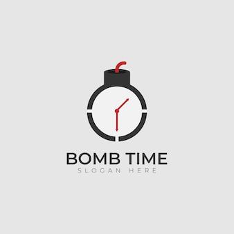 Modèle de conception d'illustration d'icône de vecteur de logo de bombe à retardement