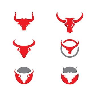 Modèle de conception d'illustration d'icône de vecteur de taureau