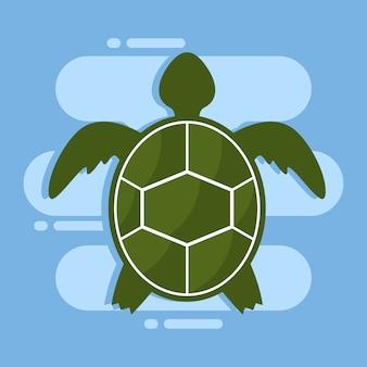 Modèle de conception d'illustration de tortue