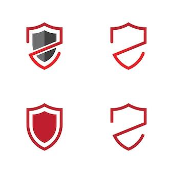 Modèle de conception d'illustration vectorielle de bouclier