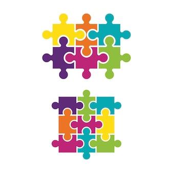 Modèle de conception d'illustration vectorielle de puzzle