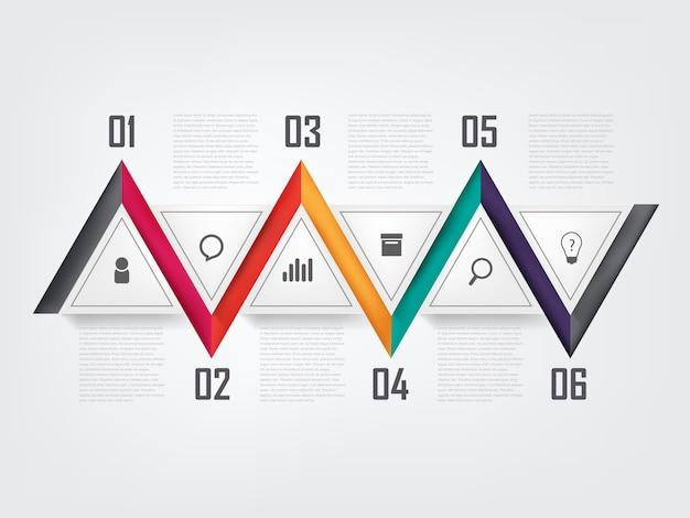 Modèle de conception info layout graphique