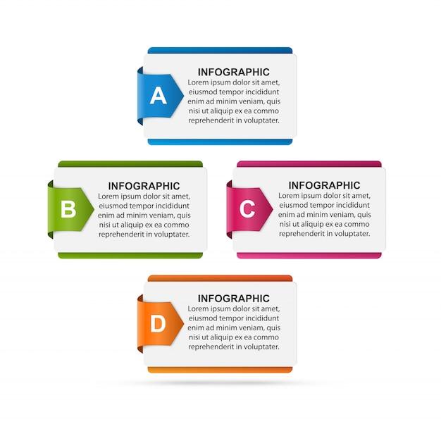 Modèle de conception infographie abstraite.