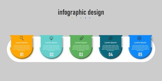 Modèle de conception d'infographie de chronologie des étapes