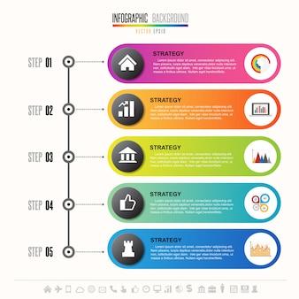 Modèle de conception infographie chronologie