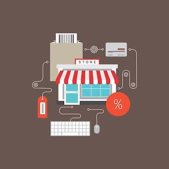 Modèle de conception d'infographie de commerce électronique