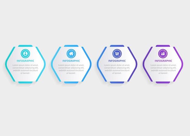 Modèle de conception d'infographie d'entreprise de présentation