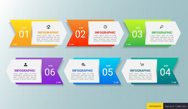 Modèle de conception infographie d'entreprise.