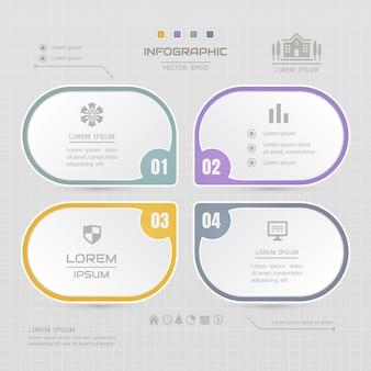 Modèle de conception infographie avec des icônes de l'entreprise