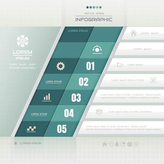 Modèle de conception d'infographie avec des icônes de l'entreprise