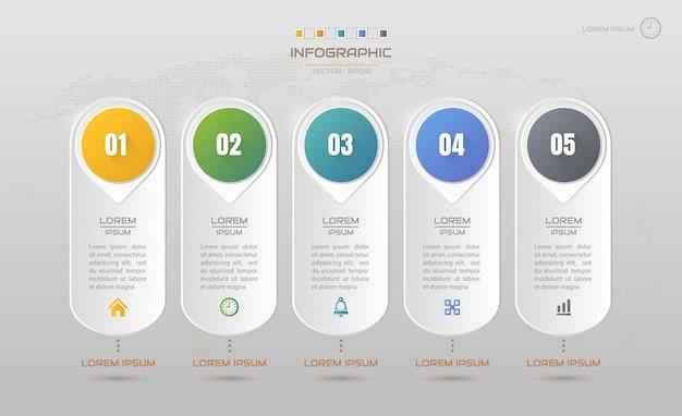 Modèle de conception infographie avec des icônes