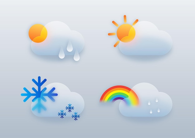 Modèle de conception d'infographie météo
