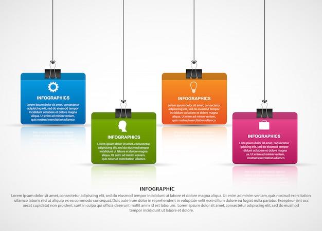 Modèle de conception infographie.