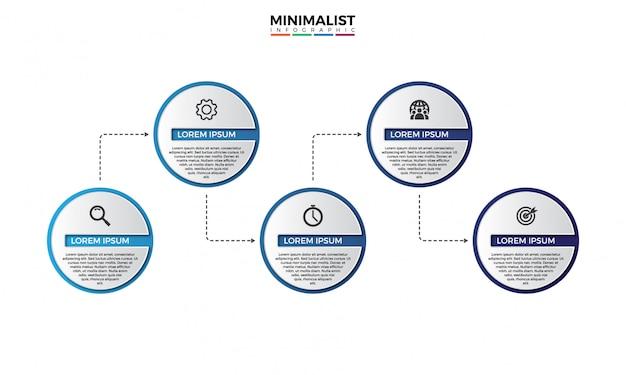 Modèle de conception infographique 3d timeline