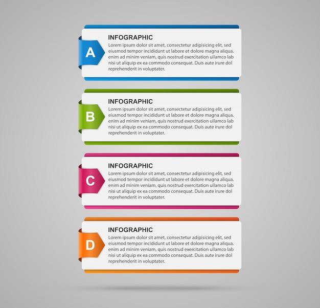 Modèle de conception infographique abstraite.