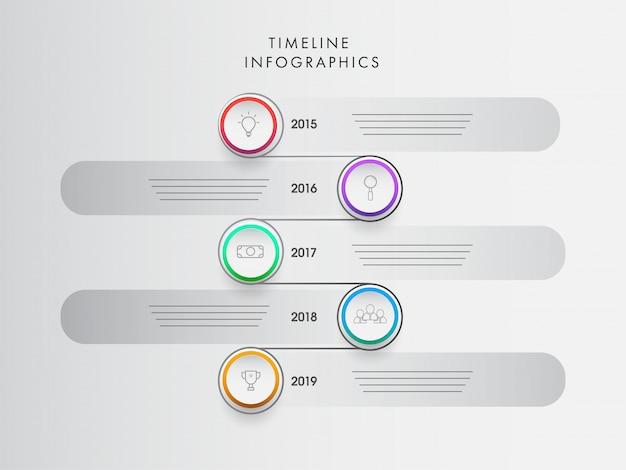 Modèle de conception infographique année calendrier avec huit niveaux pour