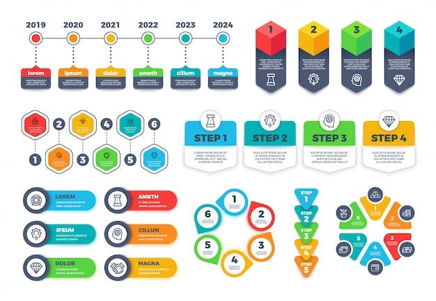 Modèle de conception infographique. diagrammes infographiques de business best-seller.