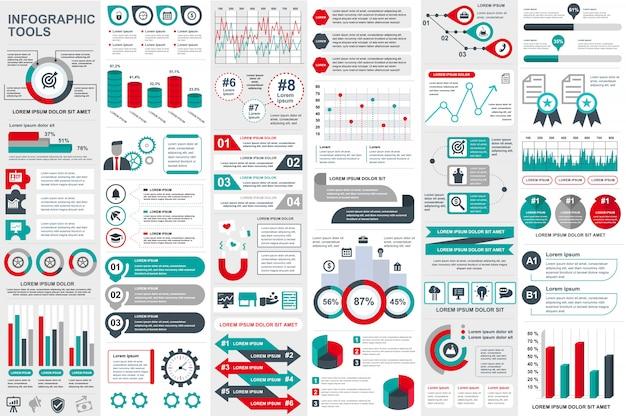 Modèle de conception infographique éléments vectoriels