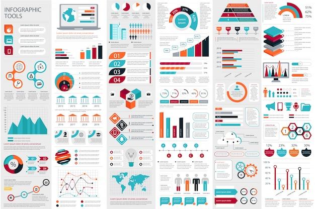 Modèle de conception infographique éléments visualisation de données vecteur