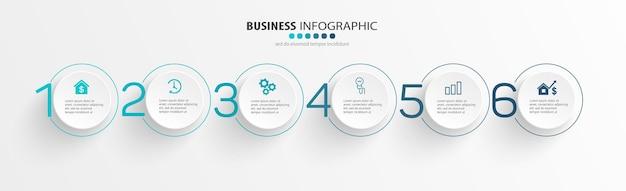 Modèle de conception infographique d'entreprise avec étapes