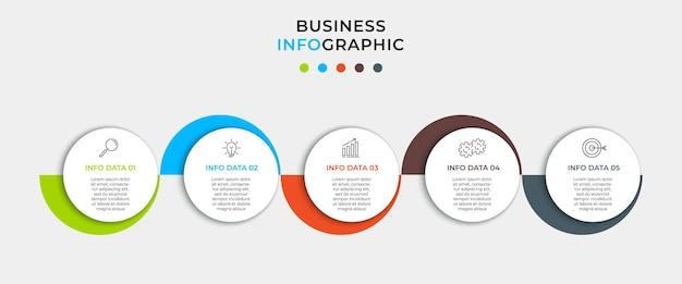 Modèle de conception infographique d'entreprise