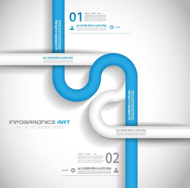 Modèle de conception infographique avec des étiquettes en papier.