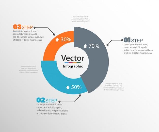 Modèle de conception infographique avec des graphiques de statistiques annuelles de conception moderne