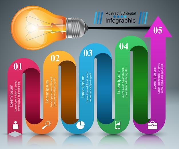Modèle de conception infographique et icônes marketing.