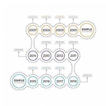 Modèle de conception infographique minime ligne minimale.