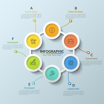 Modèle de conception infographique moderne
