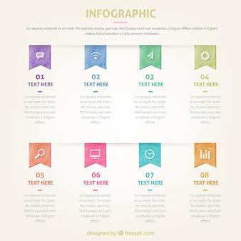 Modèle de conception infographique avec des numéros