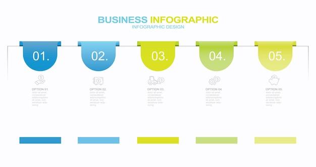Modèle de conception infographique avec place pour vos données illustration vectorielle