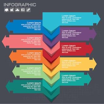 Modèle De Conception Infographique Avec Place Pour Vos Données. Illustration Vectorielle. Vecteur Premium