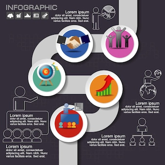 Modèle de conception infographique avec la place pour vos données.