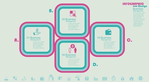 Modèle de conception infographique avec place pour votre illustration vectorielle de données