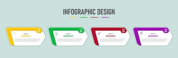 Modèle de conception infographique avec quatre options
