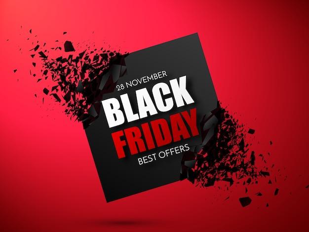 Modèle de conception d'inscription de vente vendredi noir